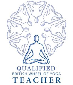 image of British Wheel of Yoga qualified teacher